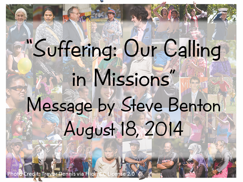 Suffering: Our Calling in Missions