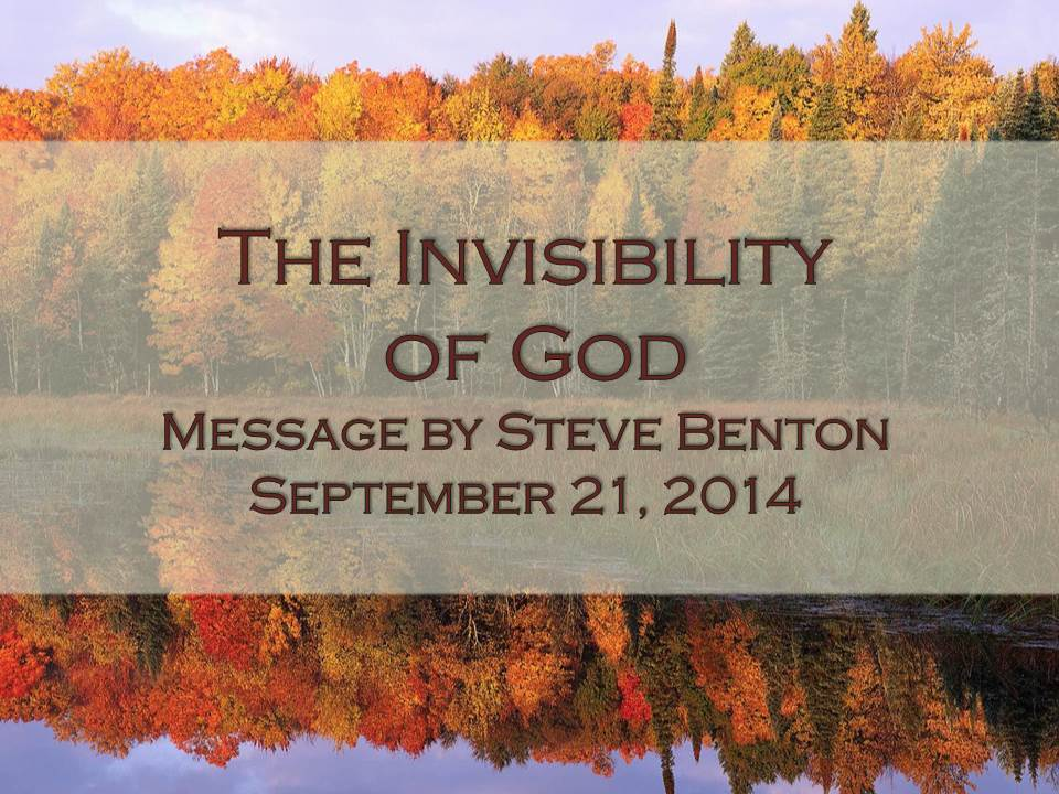 The Invisibility of God