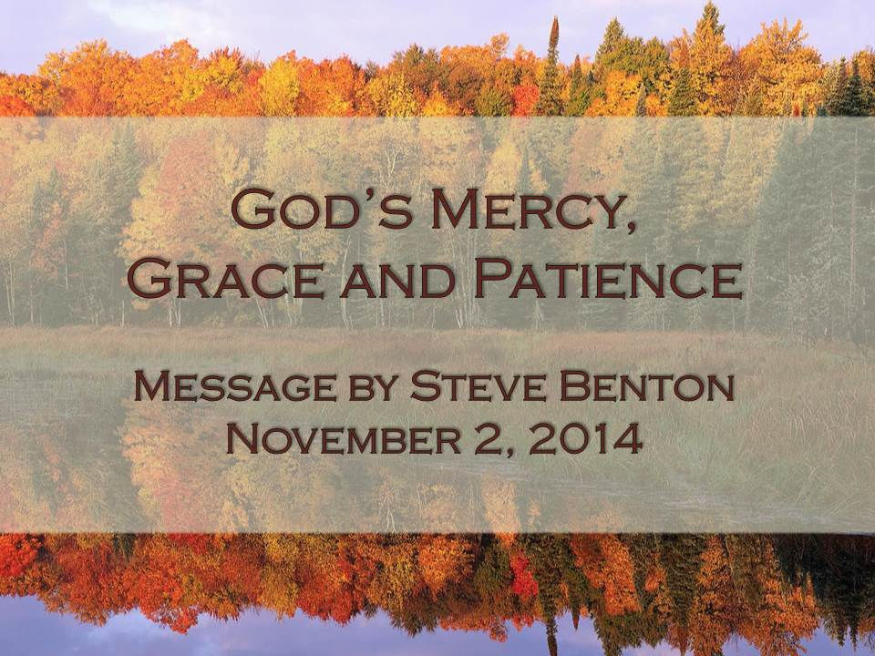 God's Mercy, Grace and Patience
