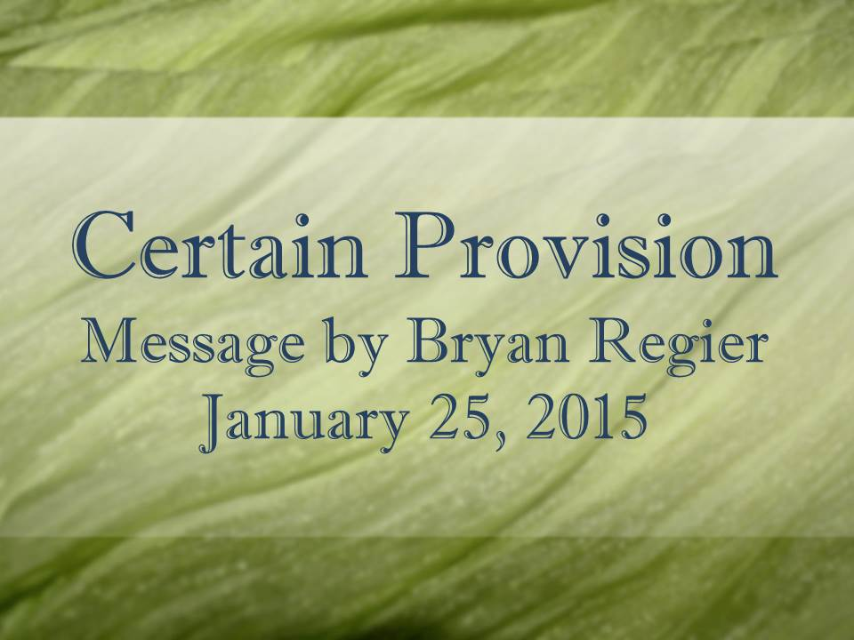 Certain Provision