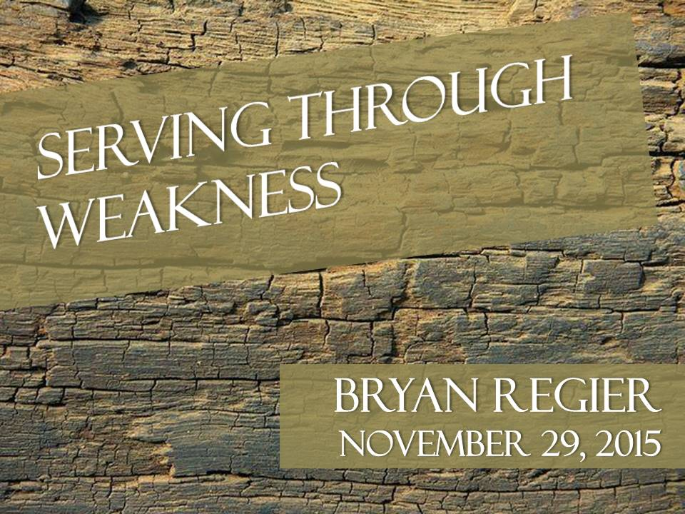 "Serving through ""Weakness"", Jeremiah 29:1-14 & 1 Peter 2:9-12"