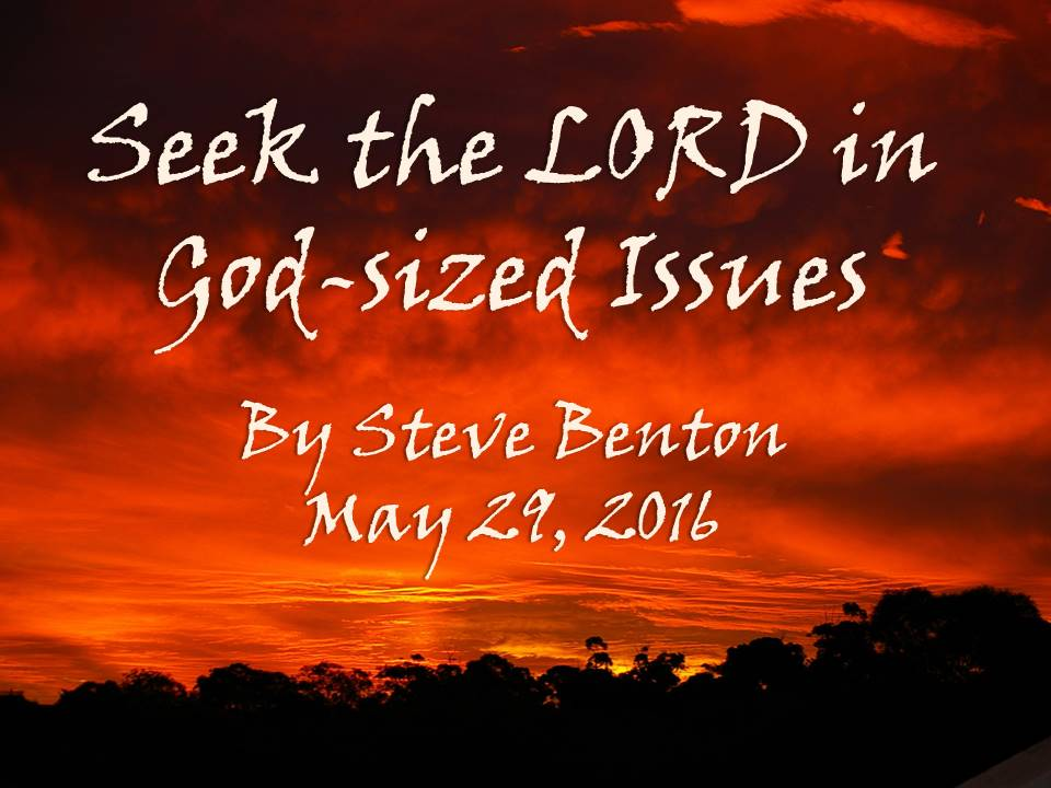 Seek the LORD in God-Sized Issues