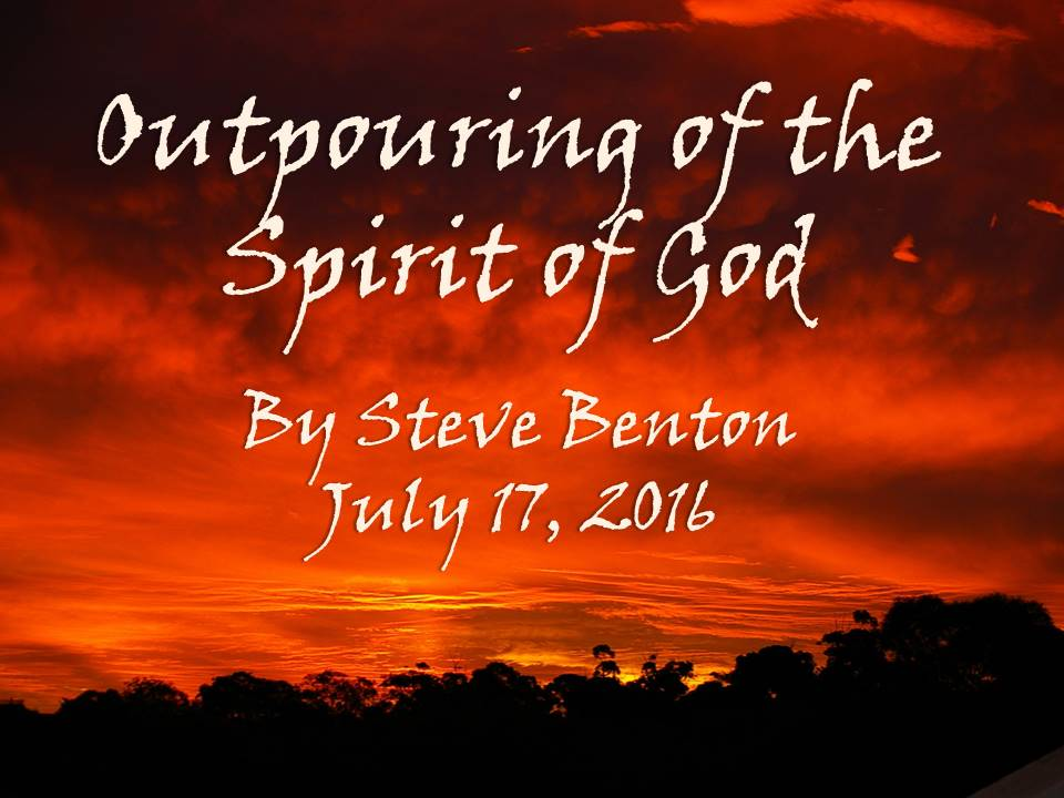 Outpouring of the Spirit of God