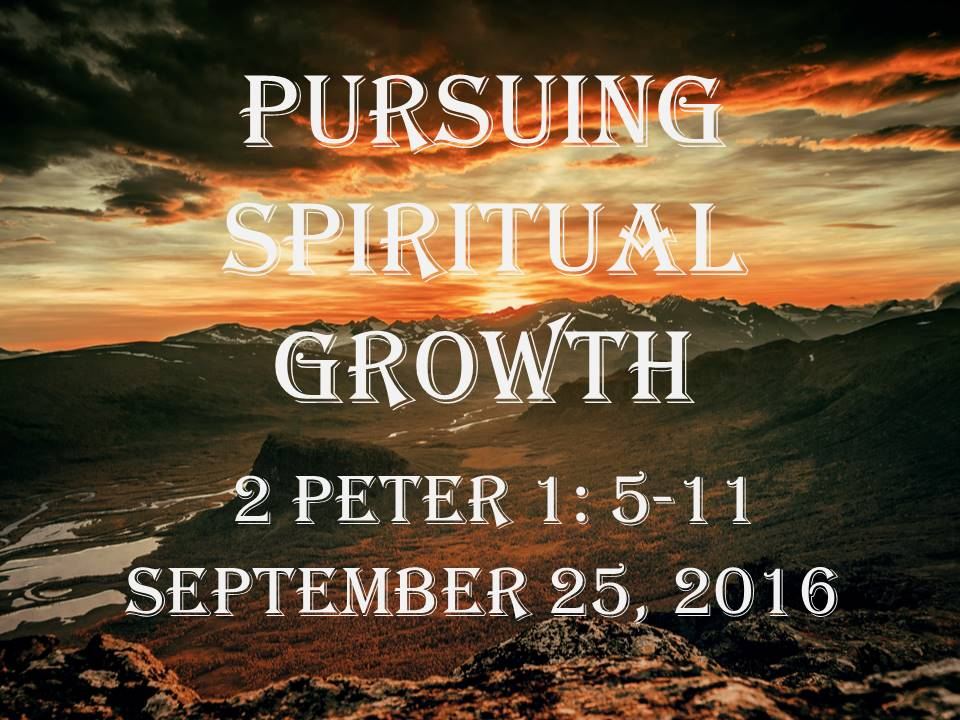 Pursuing Spiritual Growth