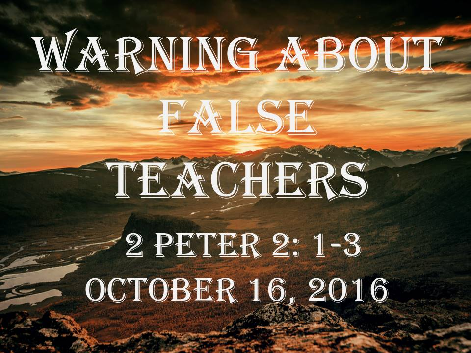 Warning about False Teachers