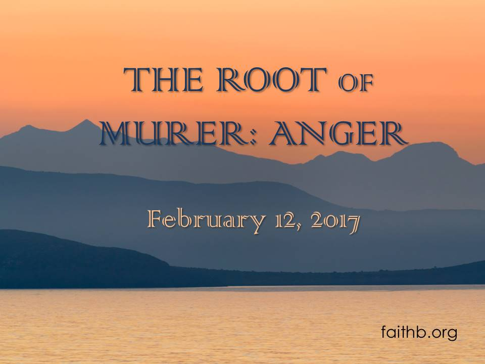 The Root of Murder: Anger