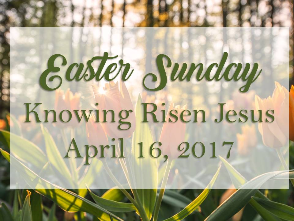 Knowing Risen Jesus