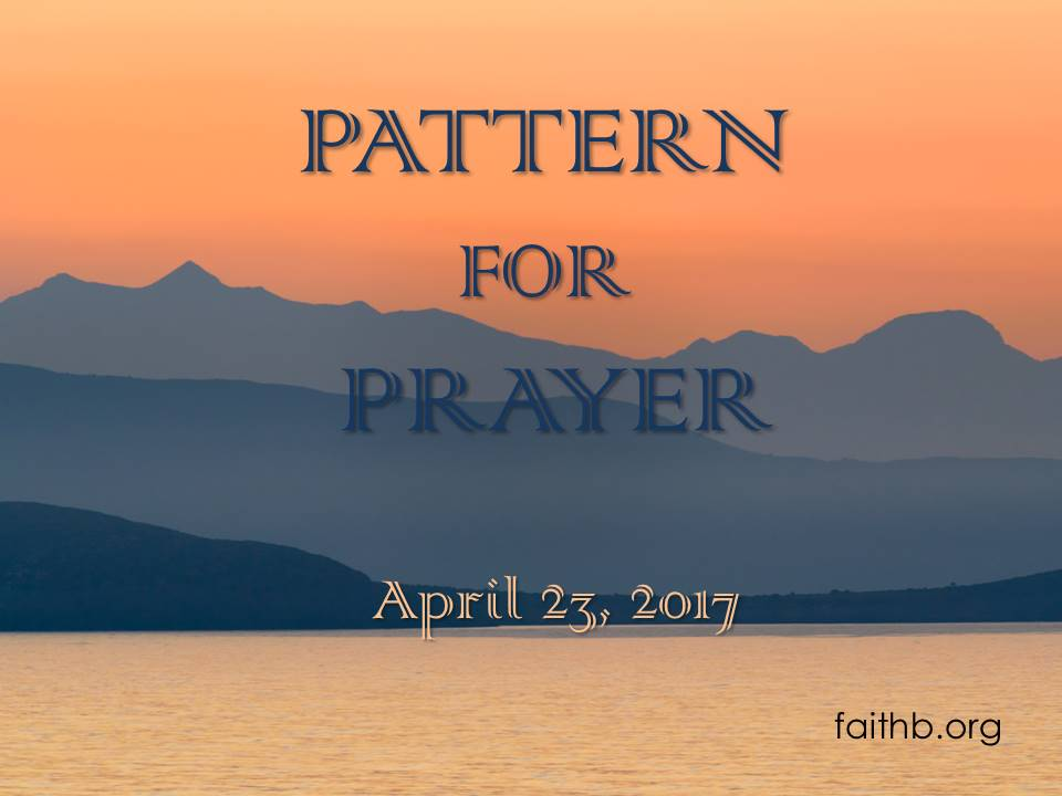 Pattern for Prayer