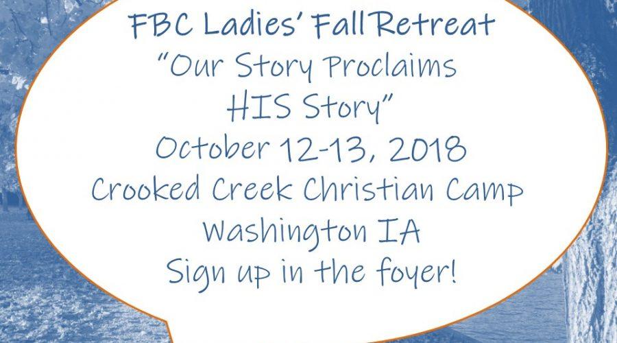 2018 Fall Ladies' Retreat