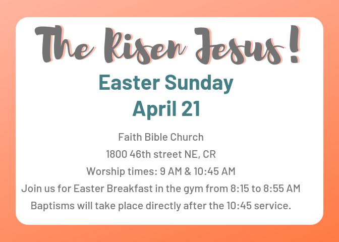 2019 Easter